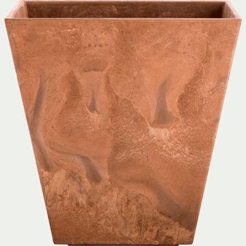 Pot à réserve d'eau - marron H15cm-ELLA