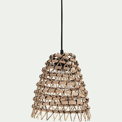 Suspension non électrifiée en fibre de palmier - naturel H22xD24cm-ORIA
