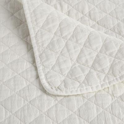 Couvre-lit effet lavé blanc ventoux 230x250cm-THYM