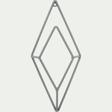 Patère losange en métal - gris H24cm-Pacha
