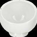 Coupelle inclinée en porcelaine blanche D12cm-COQUILLE