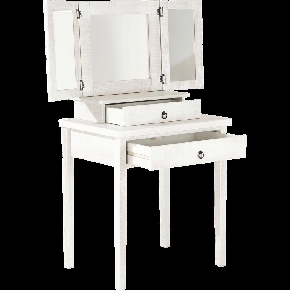 coiffeuse 2 tiroirs en pin massif bross blanchi jalousie commodes alinea. Black Bedroom Furniture Sets. Home Design Ideas