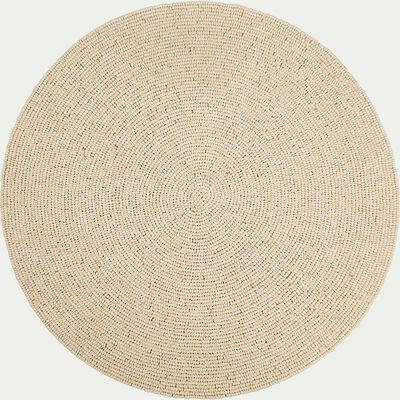 Set de table perlé blanc D38cm-PERLE