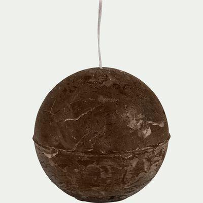 Bougie ronde brun ombre D8cm-BEJAIA