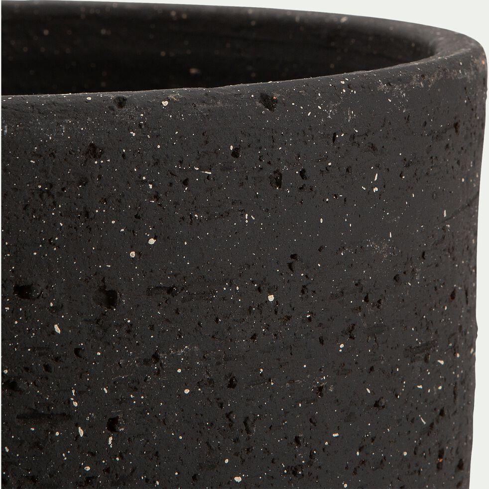 Pot haut en terre cuite - noir D23xH45cm-AREGNO