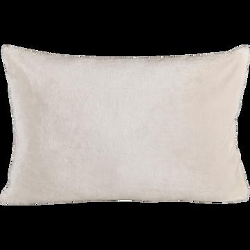 Housse de coussin effet doux blanc ventoux 40x60cm-ROBIN