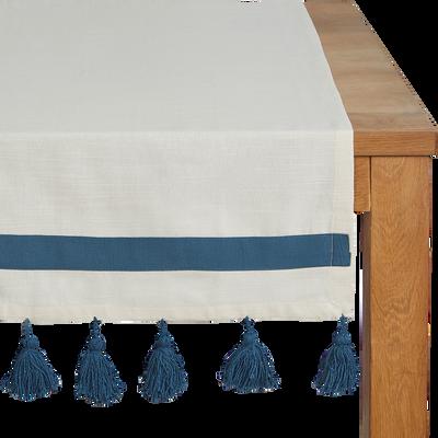 Chemin de table en coton blanc 50x150cm-AMIN