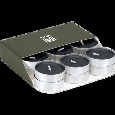 18 bougies chauffe-plats gris calabrun-HALBA