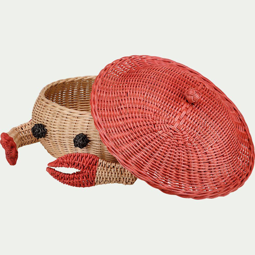 Panier crabe tressé en rotin - rouge-Pica