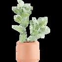 Vase en céramique rose H15xD14cm-APHELIE