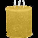 Bougie lanterne coloris beige nèfle D15xH15cm-BEJAIA