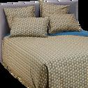 Housse de couette 260x240cm motifs fleurs dorées-LIVIA