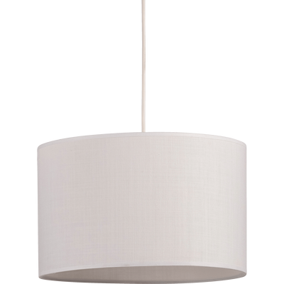 Suspension cylindrique en tissu blanc D60cm-MISTRAL