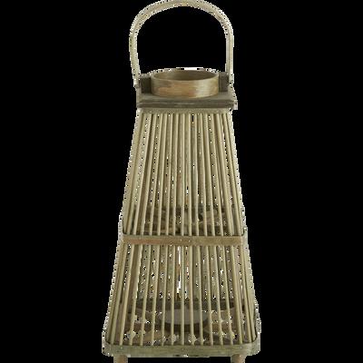 Lanterne en rotin D13xH44cm-LUANG