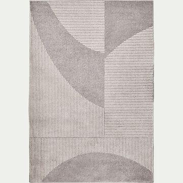 Tapis à motifs géométriques - gris et blanc 160x230cm-flore