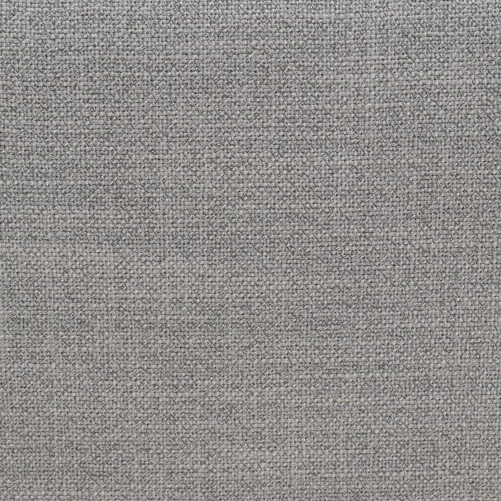 Pouf en tissu gris borie avec coffre-MAGIC