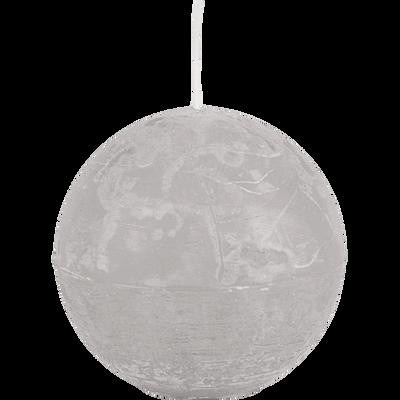 Bougie boule gris borie-BEJAIA
