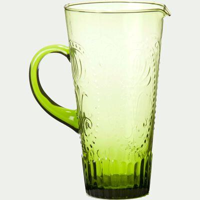 Pichet en verre vert 1,6L-Lys