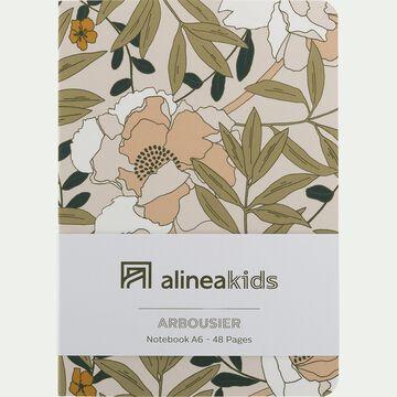 Carnet A6 floral art nouveau-ARBOUSIER