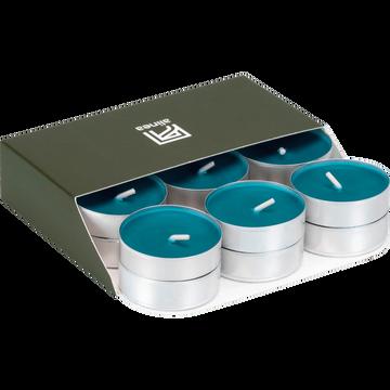 18 bougies chauffe-plats bleu niolon-HALBA