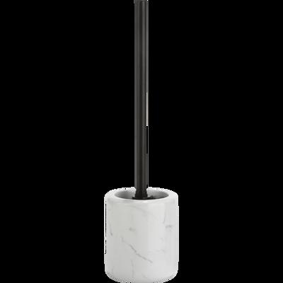 Balai et porte-balai WC effet marbre blanc-MOUNE