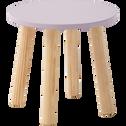 Table de chevet piétement pin massif Mauve-TOUDOU