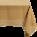 Nappe en lin et coton beige nèfle 170x170cm-MILA