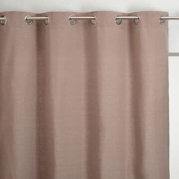 Rideau à œillets en coton - gris vésuve 140x250cm-CALANQUES