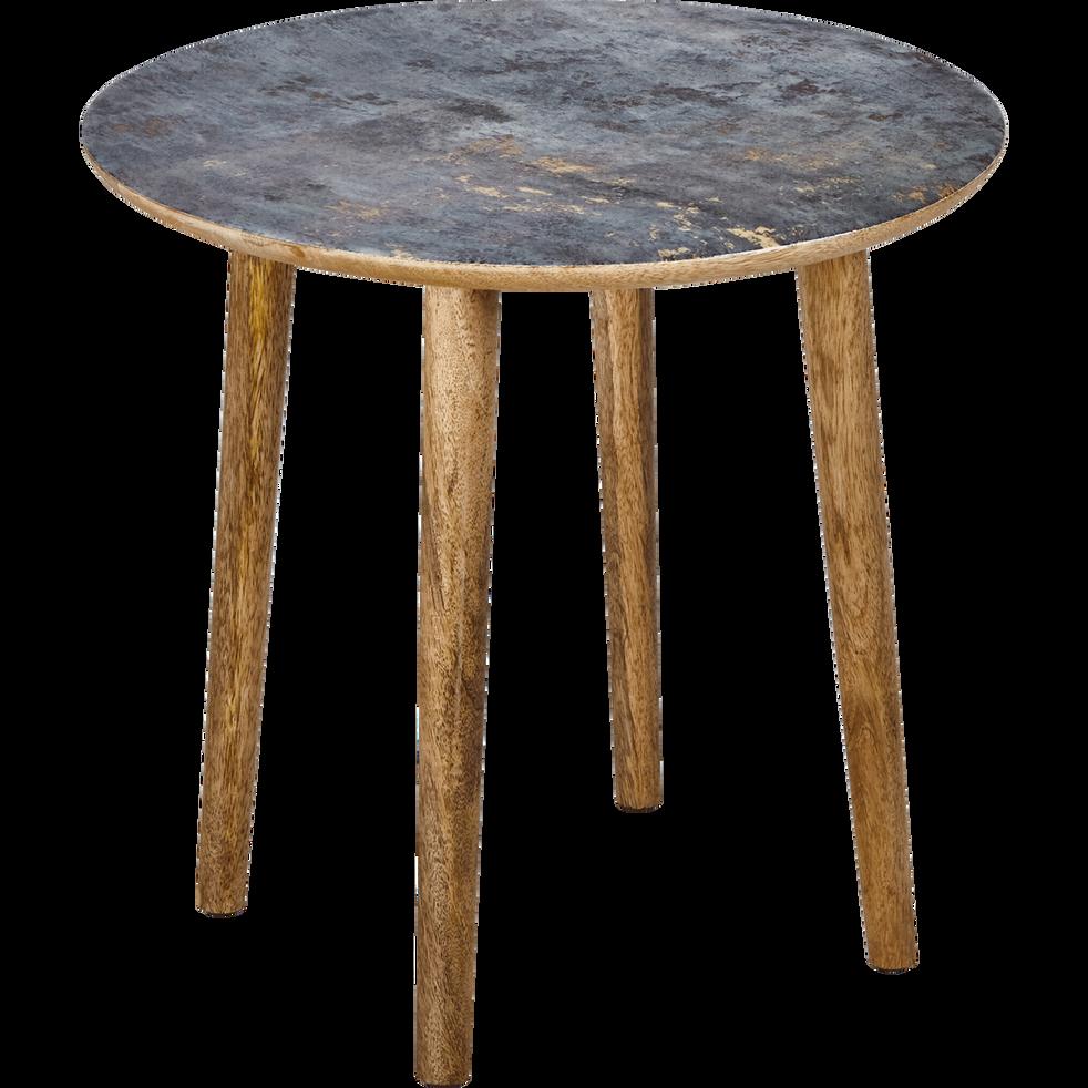 bout de canap en manguier avec plateau effet marbre barro bouts de canap alinea. Black Bedroom Furniture Sets. Home Design Ideas