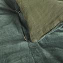 Édredon en velours vert cèdre 100x180 cm-EDEN