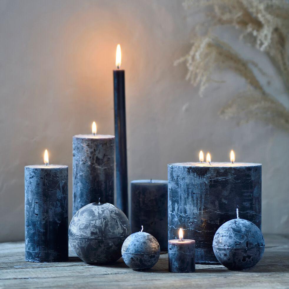 Bougie cylindrique coloris gris calabrun h19cm-BEJAIA