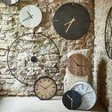 Horloge silencieuse en fer - noir D25cm-ANOR