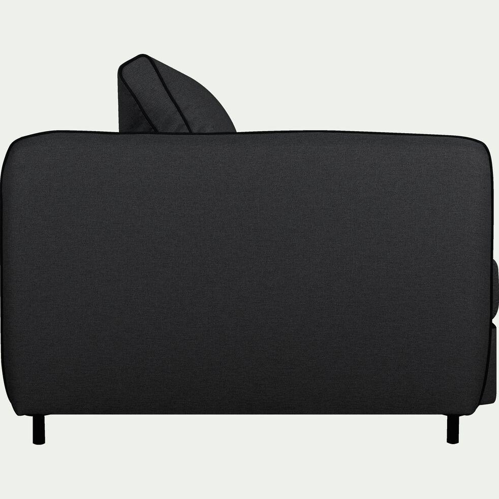 Canapé 3 places convertible en tissu - gris calabrun-SAOU