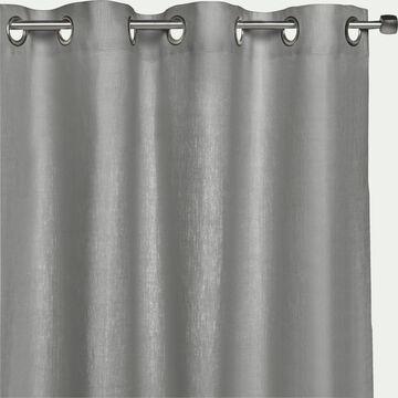 Rideau à œillets en lin - gris restanque 140x360cm-VALLON
