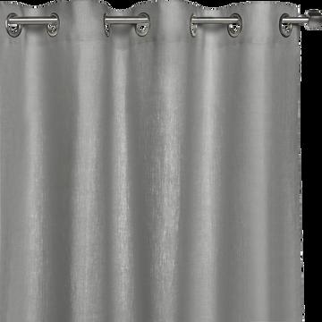 Rideau en lin gris restanque 140x360cm-VALLON