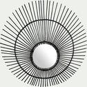 Miroir mural en kubu - noir D120cm-SORUS