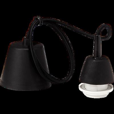 Monture électrique E27 tressée noire L120cm-PENDEL