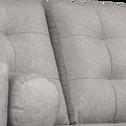 Canapé 3 places fixe en tissu gris borie-ROMEO