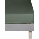 Drap housse en coton Vert cèdre 140x200cm -bonnet 30cm-CALANQUES