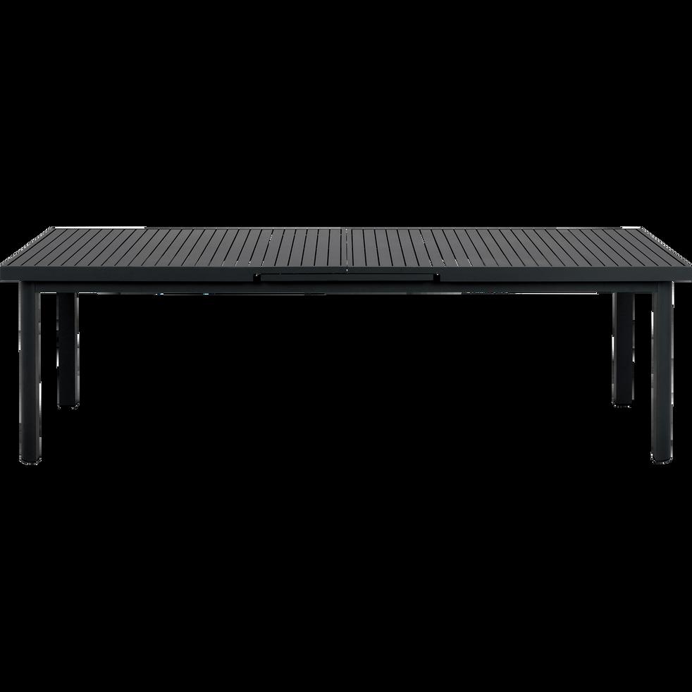 MINORQUE - Table de jardin extensible en aluminium noire (8 à 12 places)