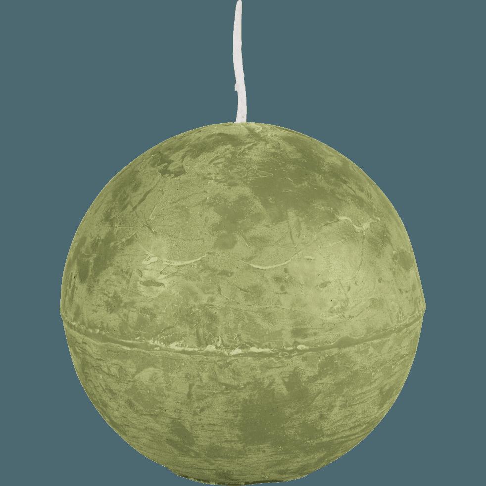 Bougie ronde vert garrigue D8cm-BEJAIA