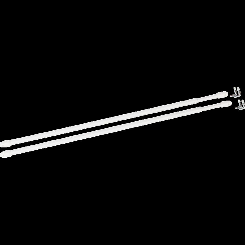 Tringle extensible pour vitrage 40 à 70cm-Vitrage