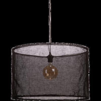 Suspension en lin noir D60cm-ORMES