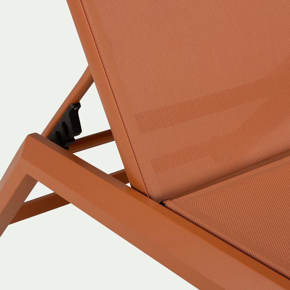 Bain de soleil en métal et toile - marron rustrel-SALI