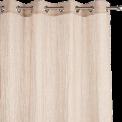 Voilage à œillets coloris lin 130x250cm-Alby