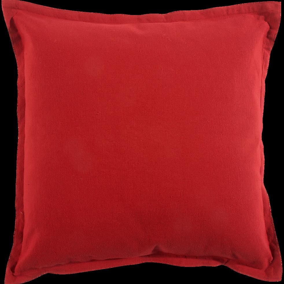 Coussin en coton rouge 40x40cm-Alméra