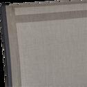 Fauteuil de jardin empilable gris en textilène-ELSA