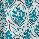 Rideau à motifs bleus en coton 140x250 cm-AMPHORES