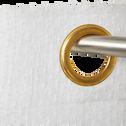 Voilage en coton blanc 140x250 cm-PISANA