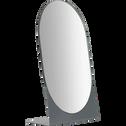Miroir ovale en métal 23,9x15cm-Corfou